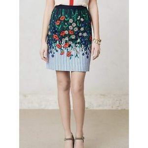 Postmark Vertical Garden Floral Striped Skirt